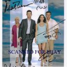 BURN NOTICE CAST AUTOGRAPHED 8x10 RP PROMO PHOTO BY 5 CAMPBELL MATHESON VANCE +