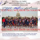 2012 USA BASKETBALL DREAM TEAM AUTOGRAPHED SIGNED 8X10 PHOTO LEBRON JAMES KOBE BRYANT CARMELO HARDEN