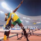 USAIN BOLT WORLD RECORD HOLDER AUTOGRAPHED 8x10 RP PHOTO OLYMPICS GOLD MEDALIST