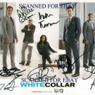 WHITE COLLAR CAST SIGNED AUTOGRAPHED 8x10 PHOTO MATT BOMER TIM DEKAY+
