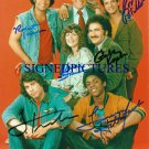 WELCOME BACK KOTTER 6 CAST AUTOGRAPHED PHOTO GABE KAPLAN RON PALILLO TRAVOLTA +