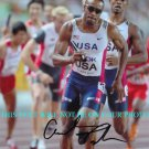 ANGELO TAYLOR AUTOGRAPHED 8x10 RP PHOTO TEAM USA TRACK AND FIELD GOLD MEDALIST
