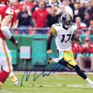 MIKE WALLACE AUTOGRAPHED 8x10 RP PHOTO PITTSBURGH STEELERS INCREDIBLE WR