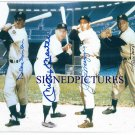 DUKE SNIDER JOE DIMAGGIO MICKEY MANTLE AND WILLIE MAYS AUTOGRAPHED 8x10 RP PHOTO
