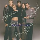 TWO GUYS AND A GIRL CAST AUTOGRAPHED RP PHOTO BY  5 NATHAN FILLION RYAN REYNOLDS