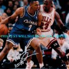 PENNY HARDAWAY AUTOGRAPHED 8x10 RP PHOTO MAGIC w MICHAEL JORDAN