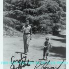 THE ANDY GRIFFITH SHOW AUTOGRAPHED 8x10 RP PHOTO ANDY GRIFFITH AND RON HOWARD