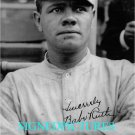 BABE RUTH AUTOGRAPHED 8x10 RP PHOTO CLASSIC BASEBALL LEGEND