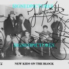THE NEW KIDS ON THE BLOCK AUTOGRAPHED 8x10 RP PUBLICITY PHOTO WAHLBERG +
