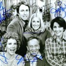 THREES COMPANY CAST AUTOGRAPHED AUTOGRAPH AUTOGRAM 8x10 RP PHOTO 3s BY ALL 5 THE ROPERS JACK