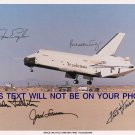 SHUTTLE ENTERPRISE FIRST LAND SIGNED RP PHOTO HAISE ENGLE FULLERTON TRULY LOUSMA