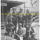 HOGANS HEROES CAST AUTOGRAPHED 8x10 RP PHOTO BOB CRANE RICHARD DAWSON BANNER +