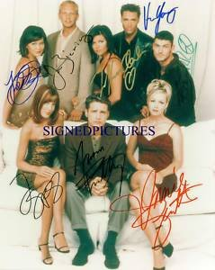 BEVERLY HILLS 90210 CAST AUTOGRAPHED 8x10 RP PHOTO BY ALL CLASSY