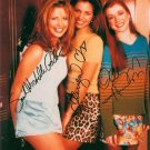 BUFFY VAMPIRE SLAYER CAST AUTOGRAPHED 8x10 RP PHOTO BY 3 SARAH GELLAR CARPENTER