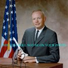 NEIL ARMSTRONG AUTOGRAPHED 8x10 RP PHOTO YOUNG PICTURE WITH USA FLAG