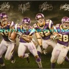 VIKINGS TEAM AUTOGRAPHED FACSIMILE PHOTO ADRIAN PETERSON HARVIN ALLEN GREENWAY