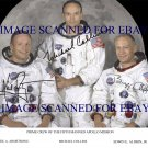 APOLLO 11 NEIL ARMSTRONG BUZZ ALDRIN AND MICHAEL COLLINS AUTOGRAPHED RP PHOTO