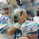 TROY AIKMAN EMMITT SMITH MICHAEL IRVIN AUTOGRAPHED AUTO RP PHOTO DALLAS COWBOYS