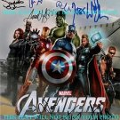 THE AVENGERS CAST AUTOGRAPHED 8x10 RP PHOTO BY 9 STAN LEE JOHANSSON HEMSWORTH +