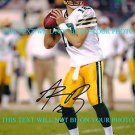 AARON RODGERS AUTOGRAPHED 8x10 RP AUTO PHOTO GREEN BAY PACKERS INCREDIBLE QB