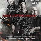 THE EXPENDABLES 2 AUTOGRAPHED RP PHOTO SYLVESTER STALLONE SCHWARZENEGGER WILLIS