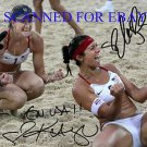 KERRI WALSH AND MISTY MAY TREANOR AUTOGRAPHED 8x10 RP PHOTO OLYMPICS VOLLEYBALL