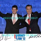 MITT ROMNEY AND PAUL RYAN AUTOGRAPHED 8x10 RP PHOTO USA PRESIDENTIAL CANDIDATES