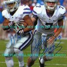 COLLIN KLEIN AND JOHN HUBERT AUTOGRAPHED 8x10 RP PHOTO KANSAS STATE HEISMAN