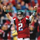 MATT RYAN AUTO AUTOGRAPHED 8x10 RP PHOTO ATLANTA FALCONS TD CELEBRATION