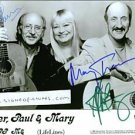 PETER PAUL AND MARY AUTOGRAPHED 8x10 RP PHOTO CLASSIC