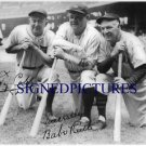 BABE RUTH AND TY COBB AUTOGRAPHED AUTO 8x10 RP PHOTO LEGENDARY BASEBALL PLAYERS