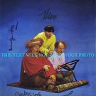 THE THREE STOOGES MOE LARRY AND CURLY - JOE AUTOGRAPHED 8X10 RP PHOTO ALL 3