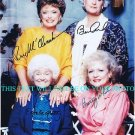 THE GOLDEN GIRLS CAST 4 AUTOGRAPHED RP PHOTO BETTY WHITE RUE ESTELLE BEA ARTHUR