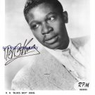 BB KING SIGNED AUTOGRAPHED RP PHOTO VERY YOUNG BLUES