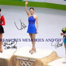 KIM YU-NA MAO ASADA & JOANNIE ROCHETTE SIGNED RP PHOTO