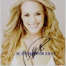CARRIE UNDERWOOD SIGNED AUTOGRAPHED RP PHOTO COUNTRY