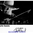 CHARLIE DANIELS SIGNED RP PHOTO DEVIL WENT TO GEORGIA