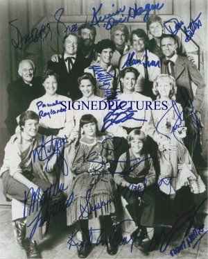 LITTLE HOUSE ON THE PRAIRIE CAST AUTOGRAPHED RP BY 14