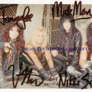 MOTLEY CRUE GROUP BAND SIGNED AUTOGRAPHED RP PHOTO ALL