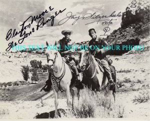 LONE RANGER SIGNED AUTOGRAPHED MOORE AND SILVERHEELS RP