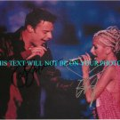 RICKY MARTIN AND CHRISTINA AGUILERA AUTOGRAPHED 8x10 RP PHOTO INCREDIBLE SINGERS