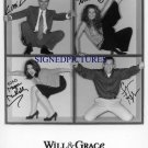 WILL AND GRACE CAST SIGNED AUTOGRAPHED 8x10 RP PHOTO ALL 4