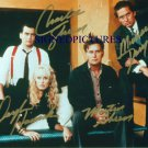 WALL STREET CAST SIGNED RP PHOTO CHARLIE SHEEN HANNAH +