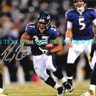RAY RICE AUTOGRAPHED AUTO 8x10 RP PHOTO BALTIMORE RAVENS INCREDIBLE RB