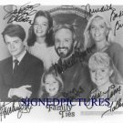 FAMILY TIES CAST AUTOGRAPHED 8x10 RP PHOTO MICHAEL J FOX +