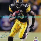 SANTONIO HOLMES AUTOGRAPHED AUTO 8x10 RP PHOTO PITTSBURGH STEELERS