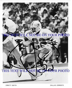 EMMITT SMITH AUTOGRAPHED 8x10 RP PHOTO DALLAS COWBOYS LEGENDARY RUNNING BACK