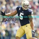 MANTI TE&#39;O AUTOGRAPHED 8x10 RP PHOTO TEO NOTRE DAME HEISMAN POSE