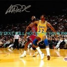 MAGIC JOHNSON AUTOGRAPHED AUTO 8x10 RP PHOTO with MICHAEL JORDAN