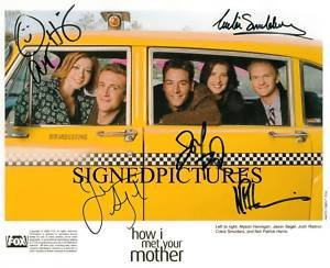 HOW I MET YOUR MOTHER CAST AUTOGRAPHED AUTOGRAM 8X10 RP PROMO PHOTO AWESOME